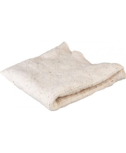 Тряпка для пола оверложенная 80х100 см, цвет белый, плотность 180-200г/м2