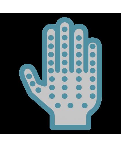 Перчатки Х/Б белые с ПВХ «ТОЧКА» 4 нити/10 класс